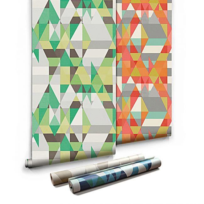 Papier Peint Geometrique Graphique Labyrinthe 3d Vert 5 3m2 Achat