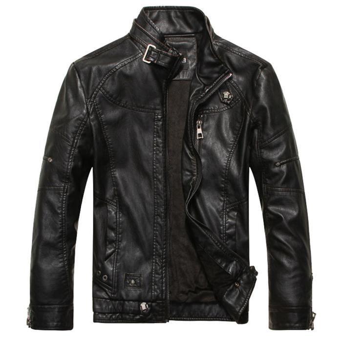 Blouson en cuir moto homme pas cher