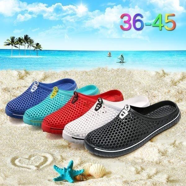 XZ514E9XZ514E9Casual creux Sandales d'été Mesh plage Chaussons plat Loisir Chaussures pour Femmes Hommes zufFz