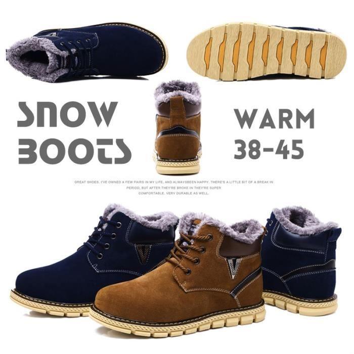 classique neige Mode hiver homme court Bottes Bottes de 5EwIqqS
