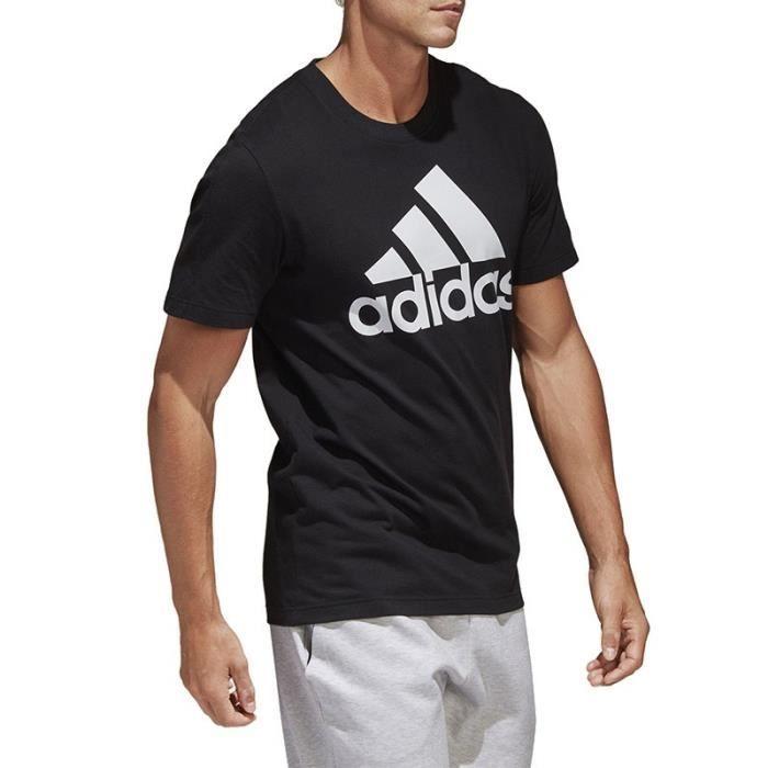 40452d40615 Tee-shirt Linear Noir Homme Adidas Noir Noir - Achat   Vente t-shirt ...