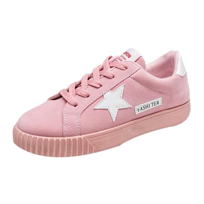 Star Flat Courir Lacets Femmes Sneaker Chaussures De Les Lettre LUqSzVpGM