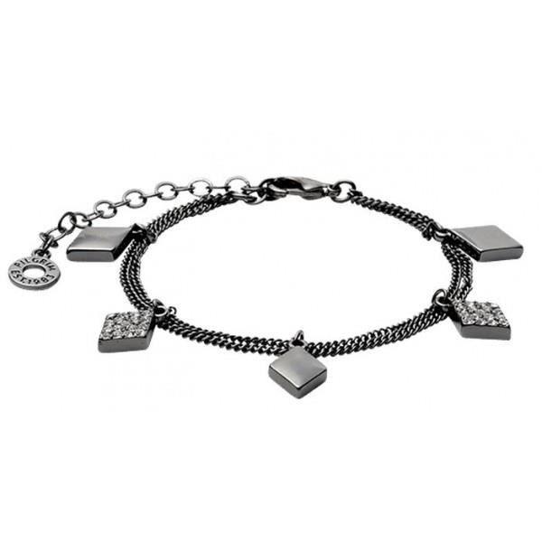 Bracelet Pilgrim Losanges plaqué Hématite et Cristaux 601413042