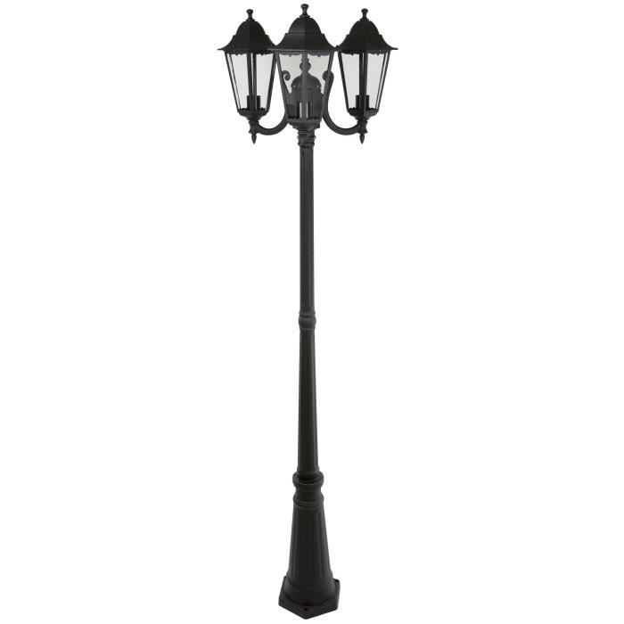 smartwares lampadaire ext rieure classico trio ranex 220 cm achat vente. Black Bedroom Furniture Sets. Home Design Ideas