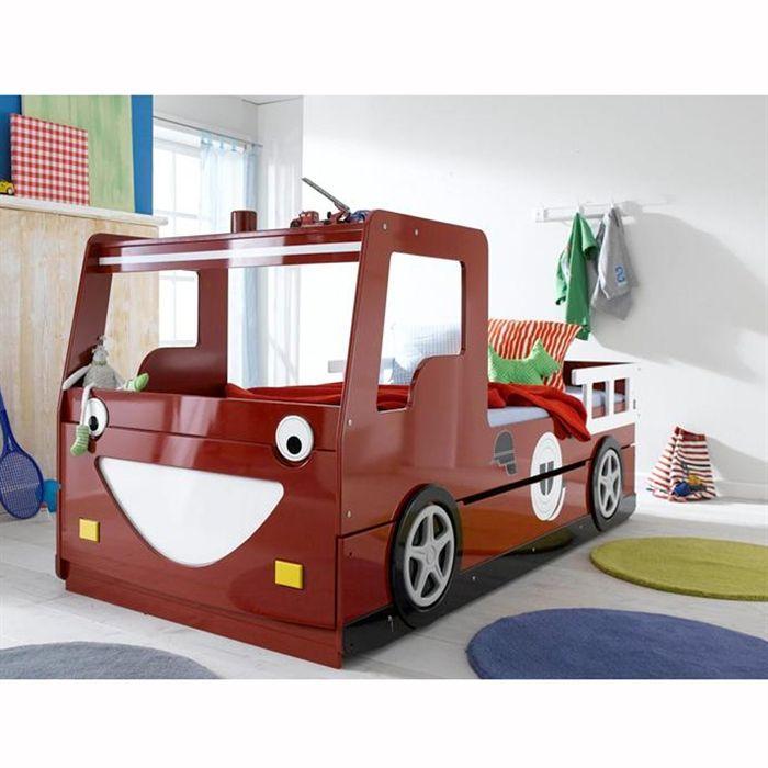 Lit Enfant X Camion De Pompier Avec Tiroir Achat Vente - Lit gigogne camion de pompier