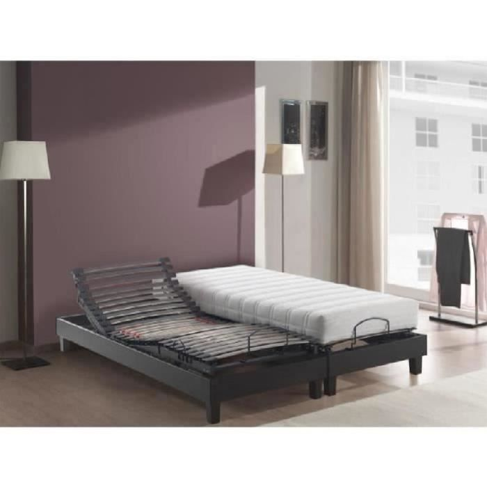 multex ensemble 2 matelas 2 sommiers 2x80x200 cm. Black Bedroom Furniture Sets. Home Design Ideas