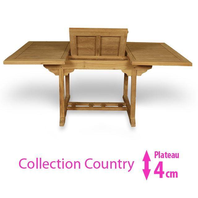 Table en teck Carrée/Rectangulaire extensible 1… - Achat ...