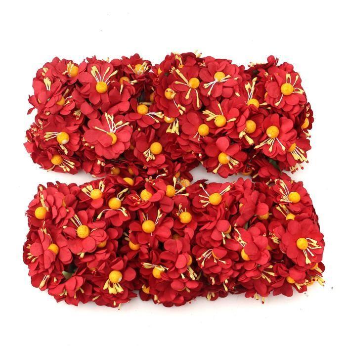 Tempsa 144pcs Fleur Papier Bouquet Artificielle Diy Decor Mariage