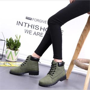 Botte MartinFemmes Qualité Supérieure Confortable Mode Ankle Boot Suede Leather Lace-Up Shoes Plus De Couleur ZX-xj057vert-41 07XC2Q4