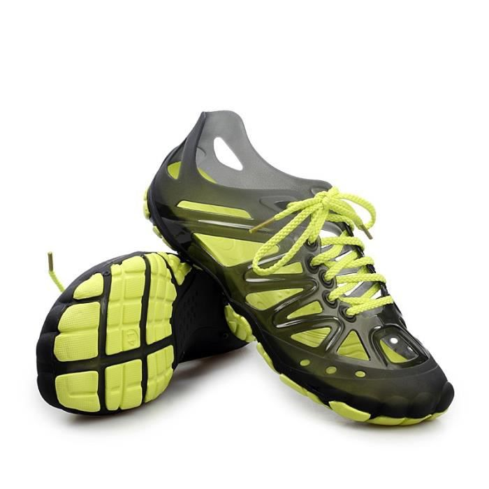 Chaussures Outdoor pataugeant plage Chaussures Hommes Chaussures Lumière pataugeant antidérapants respirante Chaussures Trou