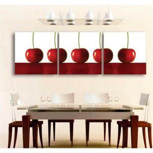 OBJET DÉCORATION MURALE 3 Panneaux de cerisier Peinture mur Art Art Décora