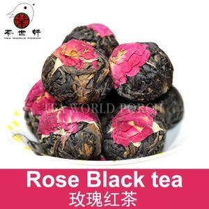 THÉ 9pcs chinois Yunnan rose thé noir Mini Tuo Dianhon
