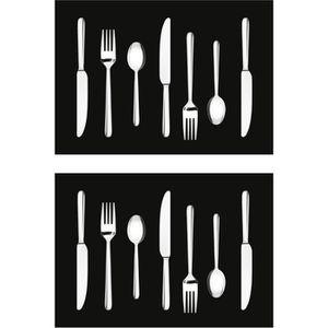 SET DE TABLE Lot de 2 sets de table Kitchen - 100% Vinyle - 35
