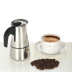 MACHINE À CAFÉ 100ml 2 tasses Machine à expresso en acier inox Pe