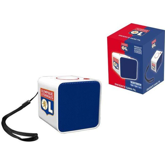 OL Olympique Lyonnais - Enceinte portable sans fil compacte -...