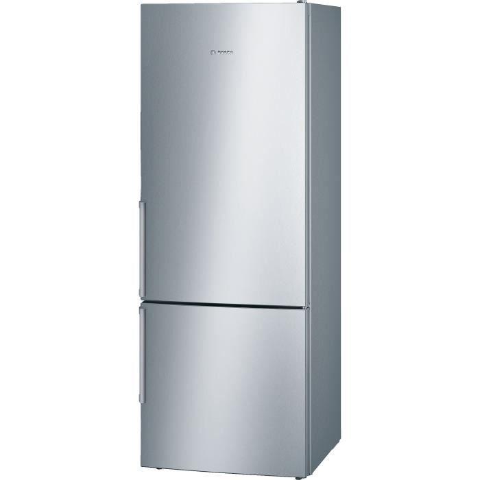 BOSCH KGE58BI40 Réfrigérateur combi - 495 L (377 L + 118 L) - Brassé LowFrost - A+++ - HxLxP 191 x 7