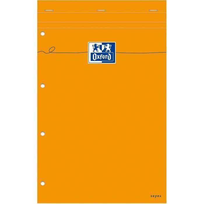 OXFORD Bloc-notes - Petits carreaux - 160 pages - 31,5 cm x 21 cm x 0,9 cm (Lot de 3)