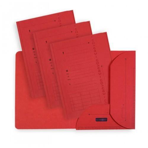 ELBA Lot de 25 chemises HV L'Oblique AZ Ultimate - Kraft - Rouge