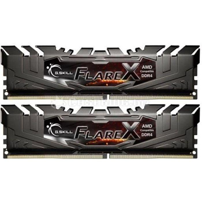 Kit de 16 Go (2 x 8 Go) DDR4 - 3200 MHz - Flare X - Dual Channel - 14-14-14-34 - 1.20v - Garantie à vieMEMOIRE PC - PORTABLE
