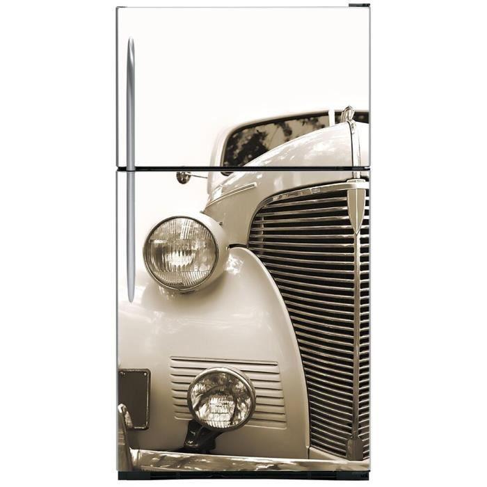 Creative Bricolage Vintage Voiture Réfrigérateur Porte Autocollant Congeler Stickers Muraux Décoration De La Maison 60x180cm