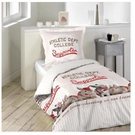 parure de lit enfant animaux achat vente parure de lit enfant animaux pas cher soldes d s. Black Bedroom Furniture Sets. Home Design Ideas