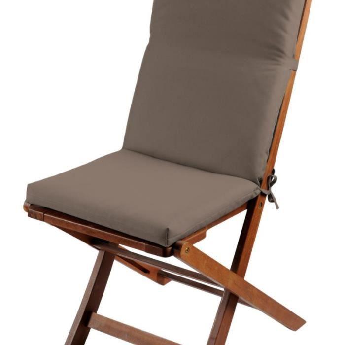 coussin de fauteuil 40x90 cm sunny outdoor couleur taupe. Black Bedroom Furniture Sets. Home Design Ideas