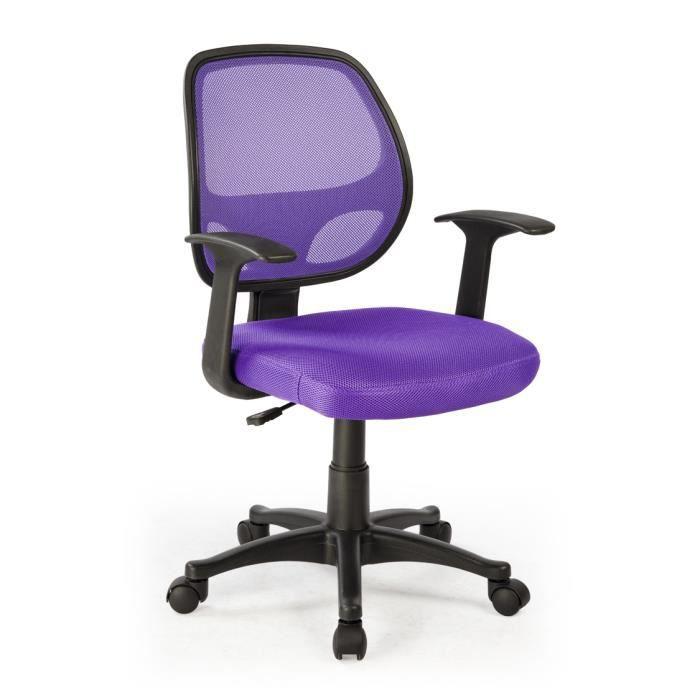 chaise de bureau violet en polyester dimensio achat vente chaise de bureau violet cdiscount. Black Bedroom Furniture Sets. Home Design Ideas