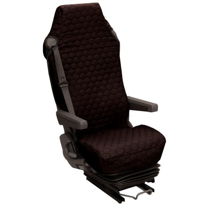 housse universelle pour si ge camion coton matelass noir achat vente housse de si ge housse. Black Bedroom Furniture Sets. Home Design Ideas