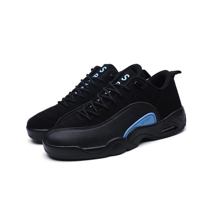 Baskets Homme Chaussures De Sport Masculines Respirante Chaussures 2017 Nouveau-Noir wCAfz