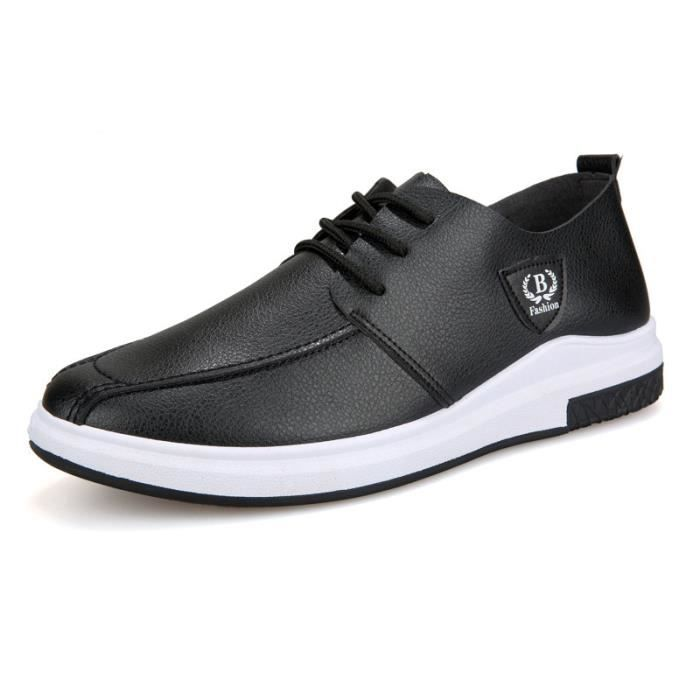 Hommes Chaussures en cuir Casual Chaussures Automne 2017 Mode pour hommes Chaussures Designer Casual grande taille Respirant