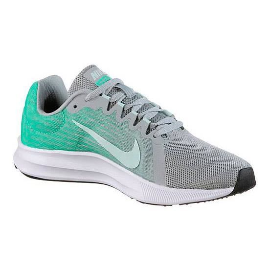 pick up 4db47 42c2e BASKET Chaussures Nike Downshifter 8 gris vert femme