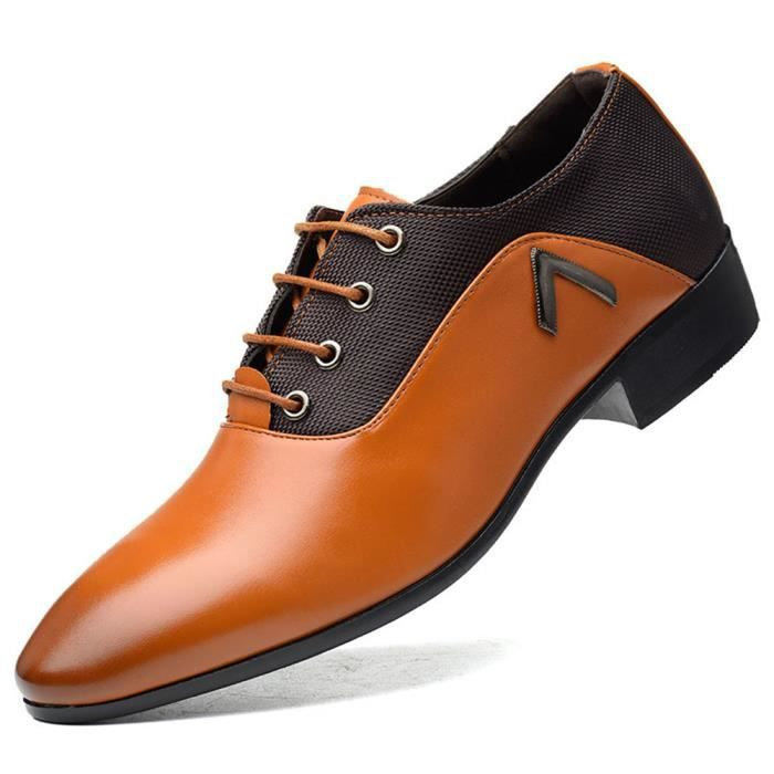 Chaussures derby pour hommes Chaussures habillées à lacets pour hommes Chaussures formelles confortables