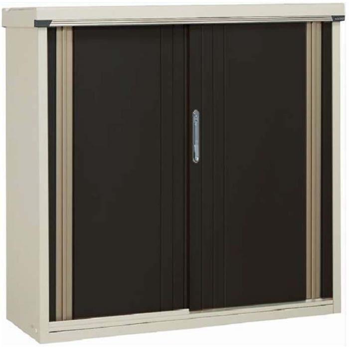 Armoire de jardin en acier galvanisé noir M157 avec portes, 151,4 ...
