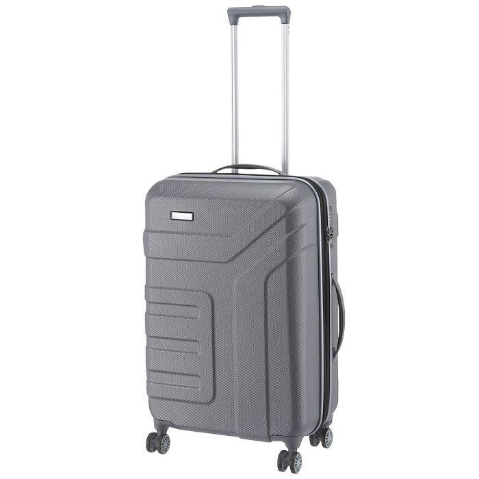 Travelite Trolley Vector with 4 wheels Size M in anthracite Valise, 70 cm, 79 liters, Noir (Anthracite)