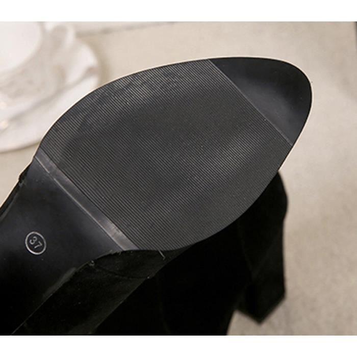 Bottines Ceinture Dames Chaussures Boucle Femmes Chaud Qinhig4288 Faux Talons Bottes Martin 64EHqW