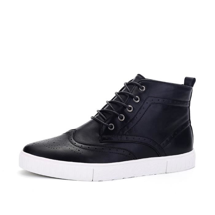 Botte Homme Casual Mocassins stretch antidérapanterouge taille8