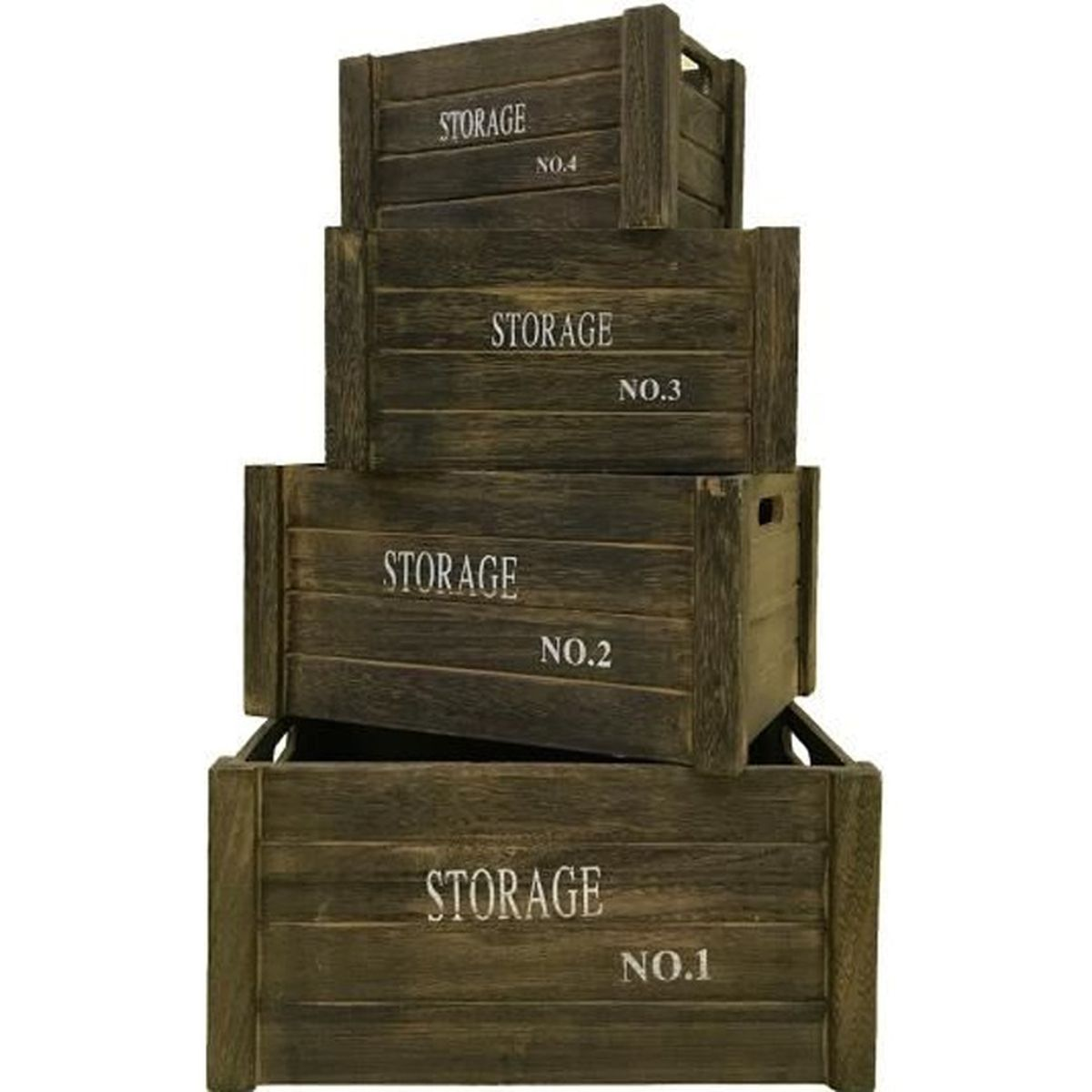 caisse de rangement en bois achat vente caisse de rangement en bois pas cher soldes d s. Black Bedroom Furniture Sets. Home Design Ideas