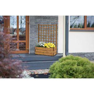 jardiniere en bois avec treillis achat vente pas cher. Black Bedroom Furniture Sets. Home Design Ideas