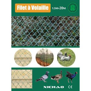 FILET DE PROTECTION Filet à Volaille 20mX1.5m Filet de Protection Pour