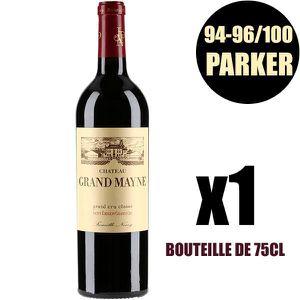 VIN ROUGE X1 Château Grand-Mayne 2016 75 cl AOC Saint-Émilio