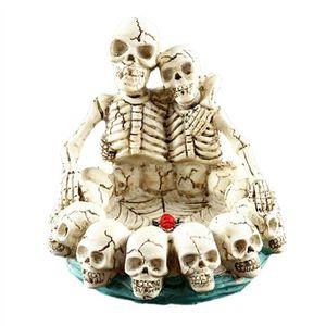 CENDRIER Halloween Décor Double Crânes Serrant Chaque Autre