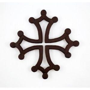 DESSOUS DE PLAT  Dessous de plat Croix Occitane. - Couleur:Marron