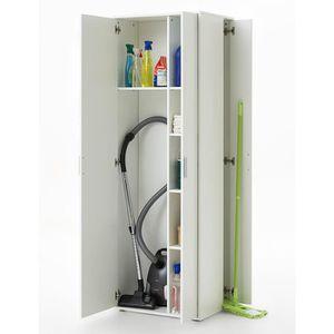 armoire balais meuble de rangement multifonctionnel achat vente colonne armoire wc. Black Bedroom Furniture Sets. Home Design Ideas