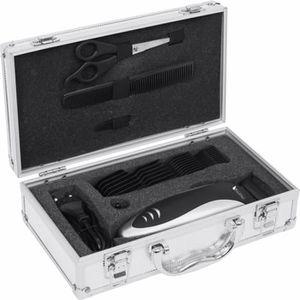 TONDEUSE CHEVEUX  Kit complet coiffure dans une belle valise argenté