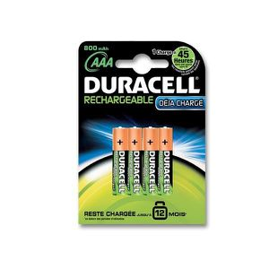 duracell pile rechargeable aaax4 lr03 achat vente piles cdiscount. Black Bedroom Furniture Sets. Home Design Ideas