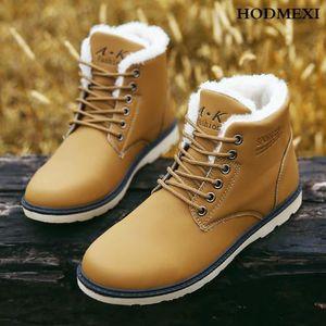 BOTTINE Bottines Chaud Martin en Cuir Chaussures Homme ...