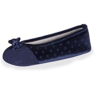 CHAUSSON - PANTOUFLE Chaussons femme Well plumetis - Bleu - 91018-AAH-C