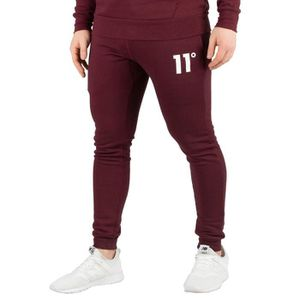 SURVÊTEMENT 11 Degrees Homme Joggeurs Core Skinny, Rouge taill