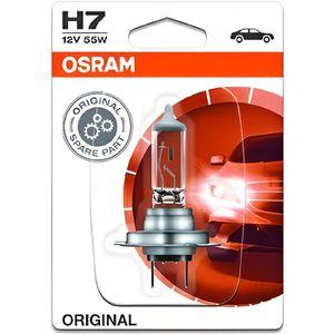 AMPOULE TABLEAU BORD OSRAM Lampe de phare halogène Original H7 55W 12V