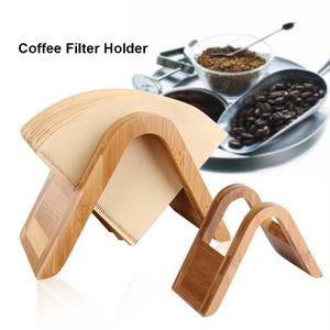 FILTRE Â CAFÉ JETABLE Support de filtre à café en Bois de bambou-----DQ